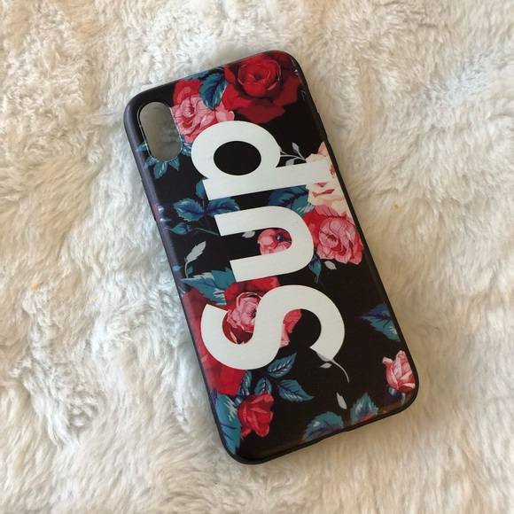 san francisco ad73f e337a Floral Supreme iPhone X case NWT